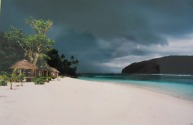 Lalomanu beach fales